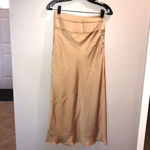 Gold free people skirt